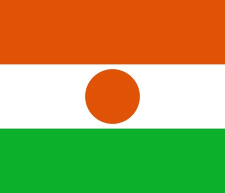 sovereign: Sovereign state flag of country of Niger in official colors. Stock Photo