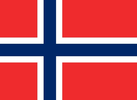 sovereign: Sovereign state flag of country of Norway in official colors.
