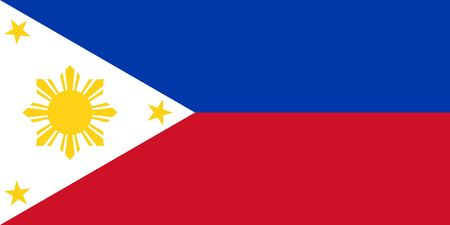 sovereign: Sovereign state flag of country of Philippines in official colors.
