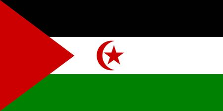 sovereign: Sovereign state flag of country of Western Sahara in official colors.