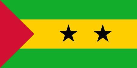 principe: Bandera de Estado soberano del pa�s de Santo Tom� y Pr�ncipe en colores oficiales.