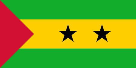 sovereign: Sovereign state flag of country of Sao Tome and Principe in official colors.  Stock Photo