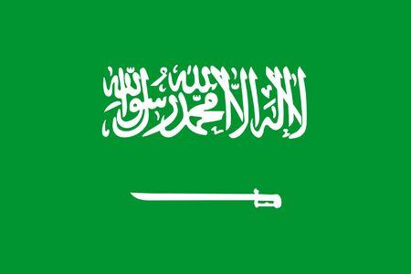 sovereign: Sovereign state flag of country of Saudi Arabia in official colors. Stock Photo