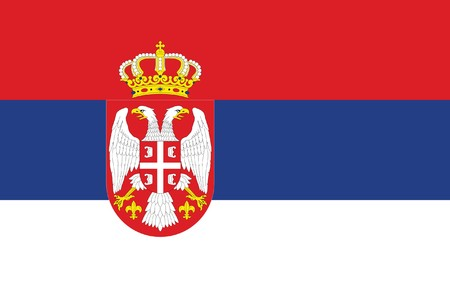 sovereign: Sovereign state flag of country of Serbia in official colors.