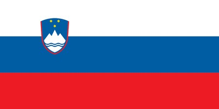 sovereign: Sovereign state flag of country of Slovenia in official colors.