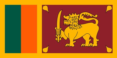 sovereign: Sovereign state flag of country of Sri Lanka in official colors.  Stock Photo