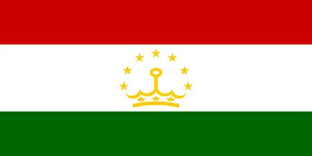 sovereign: Sovereign state flag of country of Tajikistan in official colors.