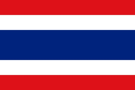 sovereign: Sovereign state flag of country of Thailand in official colors.