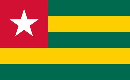 sovereign: Sovereign state flag of country of Togo in official colors.