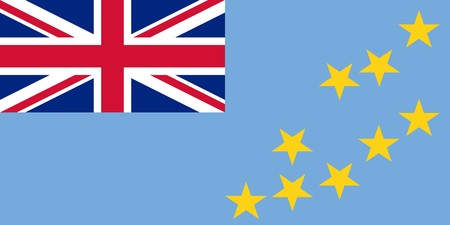 sovereign: Sovereign state flag of country of Tuvalu in official colors.  Stock Photo