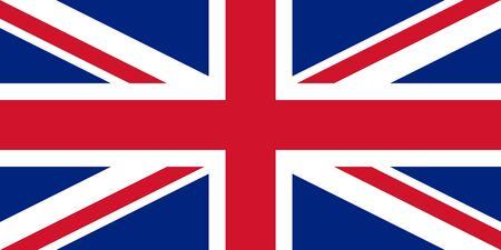 england flag: Bandiera di stato sovrano del paese del Regno Unito in colori ufficiali.