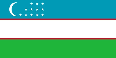 sovereign: Sovereign state flag of country of Uzbekistan in official colors.  Stock Photo