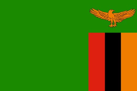 sovereign: Sovereign state flag of country of Zambia in official colors.