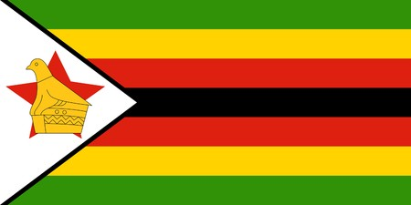 sovereign: Sovereign state flag of country of Zimbabwe in official colors.