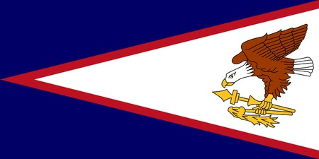 dependent: Sovereign state flag of dependent country of American Samoa in official colors.  Stock Photo