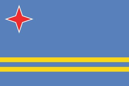 sovereign: Sovereign state flag of dependent country of Aruba in official colors.