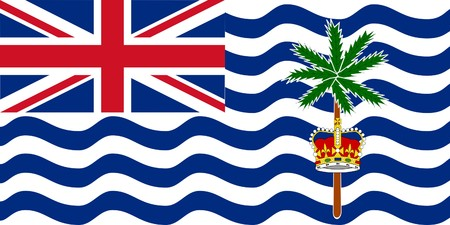 dependent: Sovereign state flag of dependent country of British Indian Ocean Territory in official colors.