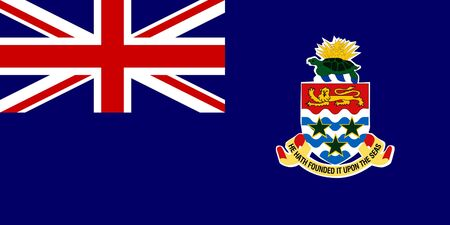 cayman islands: Sovereign state flag of dependent country of Cayman Islands in official colors.  Stock Photo