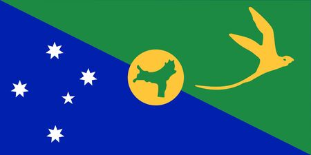 sovereign: Sovereign state flag of dependent country of Christmas Islands in official colors.
