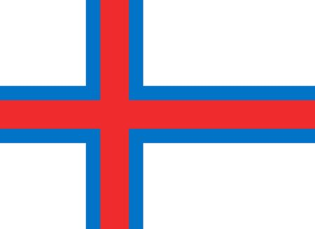 sovereign: Sovereign state flag of dependent country of Faroe Islands in official colors.  Stock Photo