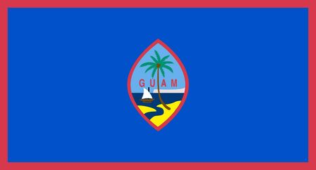 sovereign: Sovereign state flag of dependent country of Guam in official colors.