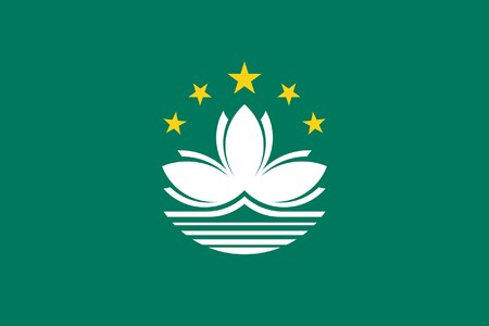 sovereign: Sovereign state flag of dependent country of Macau in official colors.