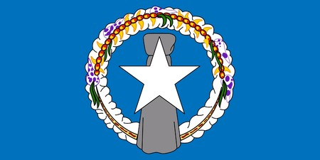 dependent: Sovereign state flag of dependent country of Northern Mariana Islands in official colors.