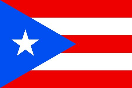 sovereign: Sovereign state flag of dependent country of Puerto Rico in official colors.