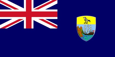 dependent: Sovereign state flag of dependent country of Saint Helena in official colors.