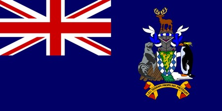 official symbol: Sovereign state flag of dependent country of South Georgia and the Sandwich Islands in official colors.  flag; sovereign; state; national; nationality; dependent, territory, identity; banner; symbol; country; travel; sign; graphical; element; icon; illust