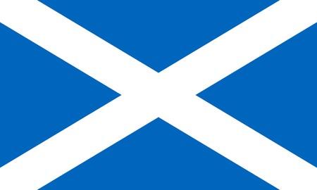 scottish flag: Bandiera di Scozia isolato su sfondo bianco.  Archivio Fotografico