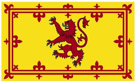 Royal Scottish standard or flag isolated on white background. Standard-Bild