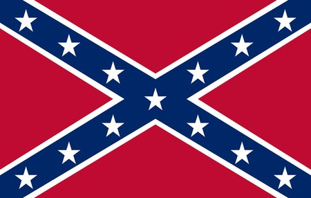 Confederate rebel flag of southern America in official colors. photo