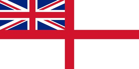 British Royal Navy ensign or flag in official colors. photo