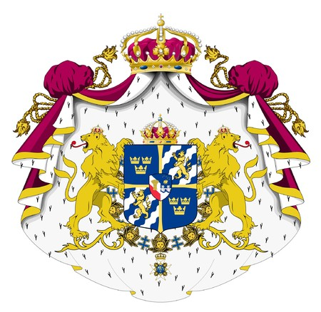 Sweden coat of arms, seal or national emblem, isolated on white background. Stock Photo - 7787790