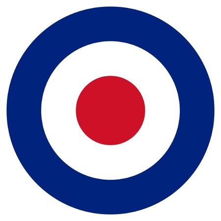 RAF roundel or mod target sign, isolated on white background. Stock Photo - 7787793