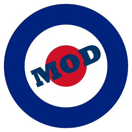 Mod target sign, isolated on a white background. Stock Photo - 7915897