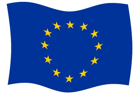 sumbol: Illustration of European Union flag in official colors.
