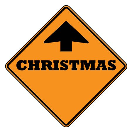 Christmas ahead sign isolated on a white background. photo