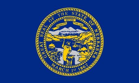 Illustration of Nebraska state flag, United States of America. illustration