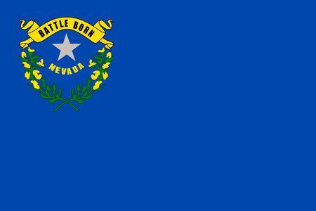 Illustration of Nevada state flag of America. illustration