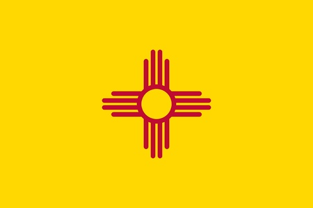 Illustration of New Mexico state flag, United States of America. Stock Photo