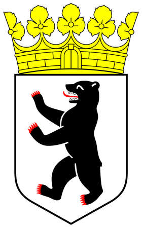 germanic: City of Berlin coat of arms, isolated on white background, Germany.