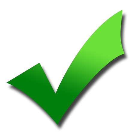 Kleurovergang groene maatstreepjes met slagschaduw; isolayed op witte achtergrond. Stockfoto