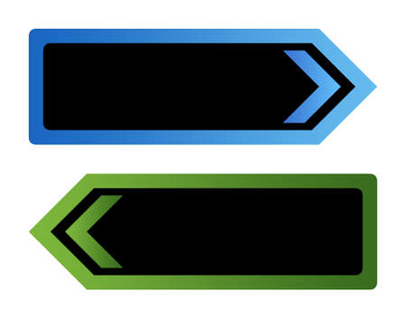 Two blank directional arrow signs isolated on white background with copy space. Stock Photo - 9072074