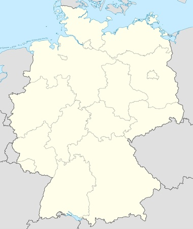 Illustrated map of the country of Germany in Europe. Stock Photo - 9072112