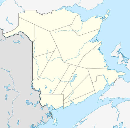Map of Canadian or Canada province of New Brunswick. photo