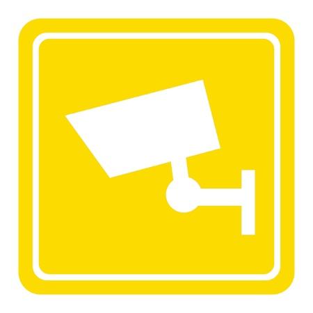CCTV camera sign or symbol; isolated on white background. Stock Photo - 9219793