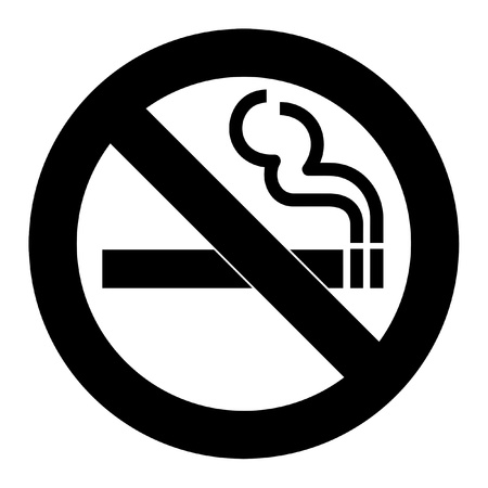 cigarettes: No smoking sign or symbol; isolated on white background.