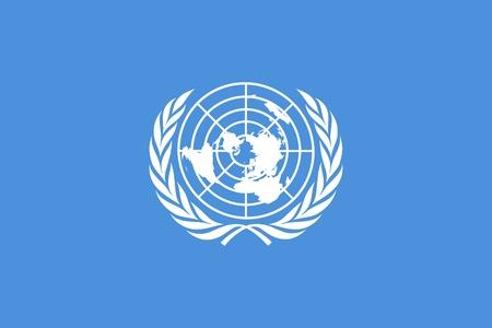 Illustration of the United Narional Flag or banner.